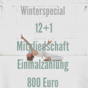 Winterspecial 12+1 Mitgliedschaft