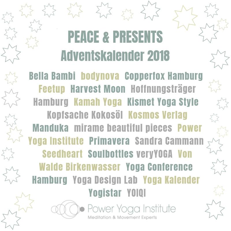 Peace & Presents – Power Yoga Institute Adventskalender 2018