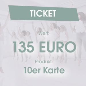 Ticket 10 Karte 135 Euro