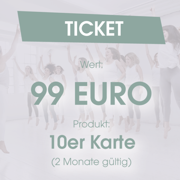 Ticket 10er Karte 2 Monate 99 Euro